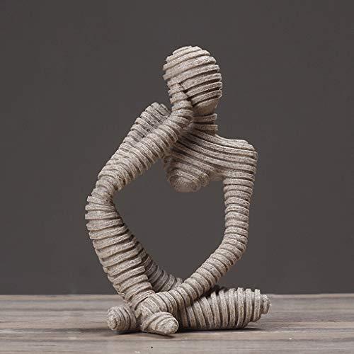 Escultura Estilo Europeo Sala de Estar Decoración de Resina Creativa TV Gabinete Vinoteca Resumen Artesanía Retrato Estatua Decoración A ++ (Tamaño : 14cm*22cm*10cm)