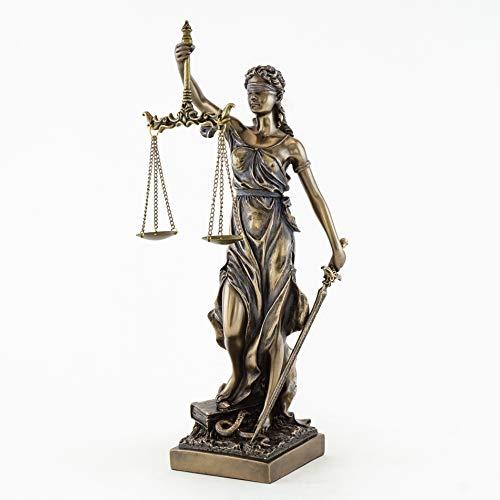 ブロンズ仕上げ 正義の女神の彫像 彫刻 S ブロンズ na [並行輸入品]