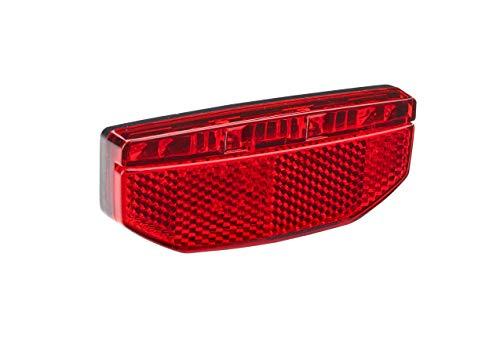 Büchel Unisex - Portaequipajes Trasero Edge para Adultos con 2 LED para Bicicleta eléctrica 6-48V, Ancho de Montaje 50mm, homologado por la StVZO, Color Negro