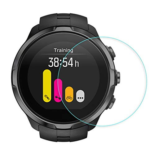 Shan-S 5PCS Clear Ultra Film Tempered Glass Screen Protector for SUUNTO 9 Smart Watch [9H Hardness] [Anti-Fingerprint] [Bubble Free] [Built-in Anti-Shatter Film ] 5