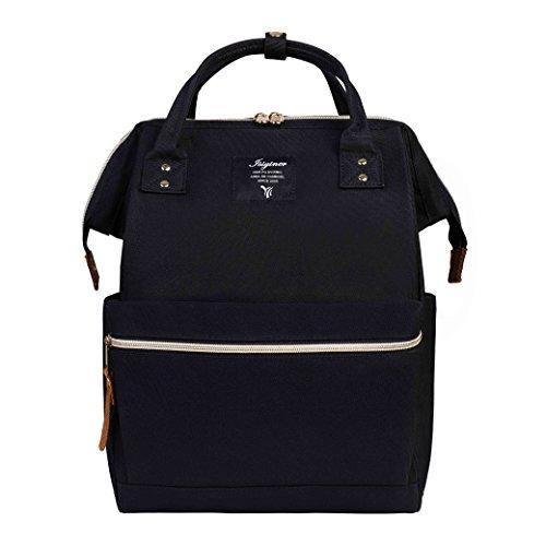 Rucksack, Lässige Daypack Splash wasserdichte Nylon Unisex große Kapazität Laptop Rucksack mit Rücken Reißverschluss für Reise Arbeit Schule Outdoor Camping