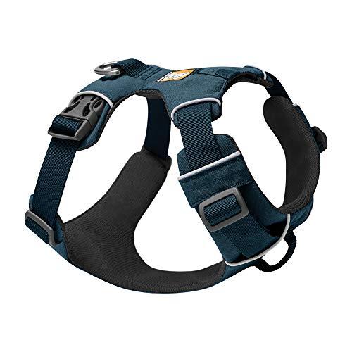 RUFFWEAR Front Range Hundegeschirr mit Brustring, Reflektierendes Gepolstertes Anti-Zieh-Geschirr, Blue Moon, S…
