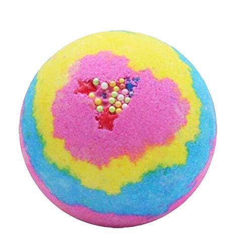 TOOGOO Boule de Bombes de Bain Arc en Ciel Rose, Spa Pétillant Hydrate Cadeaux D'Anniversaire pour les Femmes, Cadeaux Bombe de Bain pour Elle