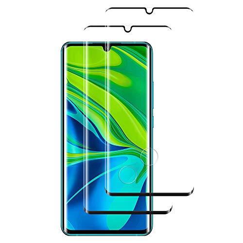 FANIER Verre Trempé pour Xiaomi Mi Note 10/ Note 10 Pro, Film Protection en Verre trempé Écran Protecteur Vitre pour Xiaomi Mi Note 10/ Note 10 Pro (2 Pièces, Anti-Rayures, sans Bulle)