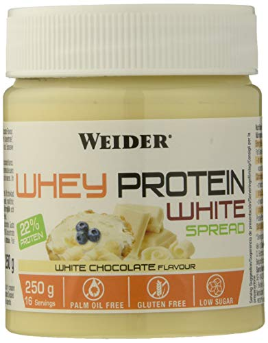 Weider Proteine Concentrate Whey White Spread, Sapore Nocciola - 250 Gr