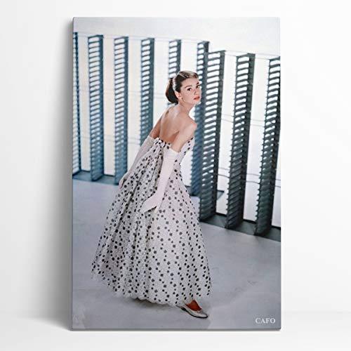 Remembrance Audrey Hepburn Canvas Art Poster 12'X18' Las 50 estrellas de cine más influyentes en la historia de Hollywood Audrey Hepburn Dormitorio decorativo