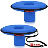 2 pcs Neoprene Floating Drink Holder Floating Coaster Pool Drink Holder for Pool Party Water Fun + Rope for Tying