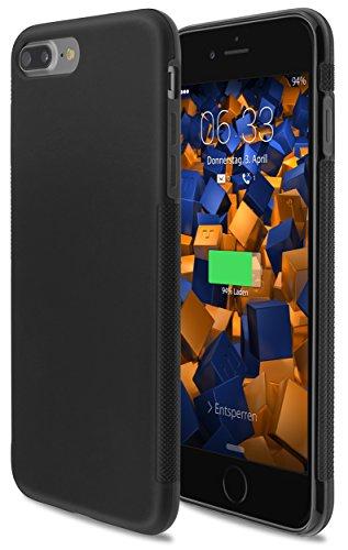 mumbi Hülle kompatibel mit iPhone 7 Plus / 8 Plus Handy Case Handyhülle Double Grip, schwarz