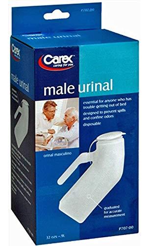 Carex Portable Urinal For Men - Male Urinal and Travel John - Plastic Urinal