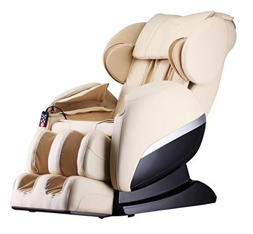 XXL Luxus Designer-Massagesessel Shiatsu Heizung Chefsessel +Massage Relaxsessel beige