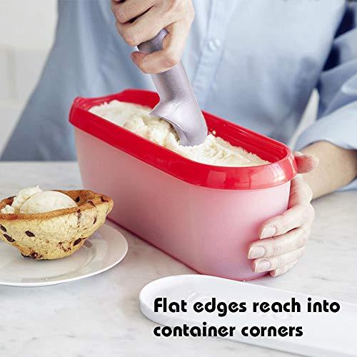 HANSGO Ice Cream Scoop, 2PCS 7 inches Nonstick Anti-Freeze Ice Cream Scooper One Piece Aluminum Design Dishwasher Safe