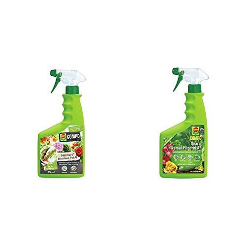 Compo Nativert Blattlaus-frei AF, Bekämpfung von saugenden Insekten an Zierpflanzen, Obst und Gemüse, 750 ml & Duaxo Universal Pilz-frei AF, Bekämpfung von Pilzkrankheiten, 750 ml