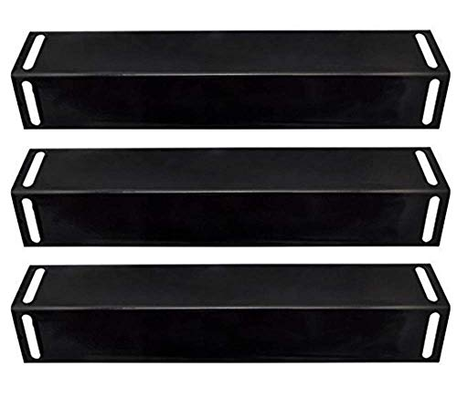 BBQ Mart 92151 (3-pack) Porcelain Steel Heat Plate Replacement for Select Gas Grill Models By BBQ Grillware, Uniflame, Charbroil, Grill Chef and Others