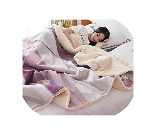 DAWN&ROSE Flanellen Fleece Quilts Beddengoed Zachte Bont Comforters Gooi Op Slaapbank/Bed/Vliegtuig Reisdeken Bedsprei Katoen Dekbedovertrek