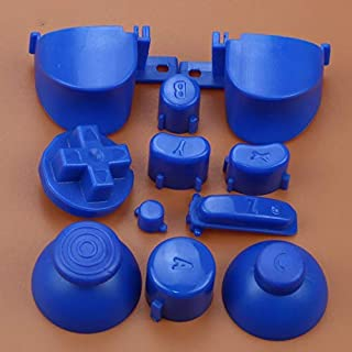 Full Sets A B X Y Z Buttons Direction Key D-pad Mod Button for Gamecube NGC Controller (Dark Blue)