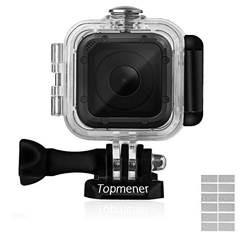 Topmener Waterproof Case for GoPro Hero 5 Session/Hero Session/Hero 4 Session HD Dive Case Underwater Protective Shell Anti-scratch Action Camera Accessories with Anti-fog Inserts and Thumbscrew - 45m