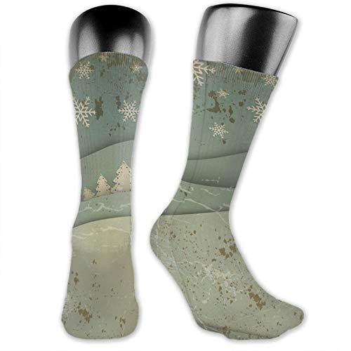 Anime calzini Natale Notte Paesaggio morbido ad asciugatura rapida traspirante calzini sportivi unisex equipaggio calzini 39,9 cm