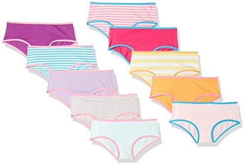 Amazon Essentials 10-Pack) bikini-underwear, Days of the Week, X-Small