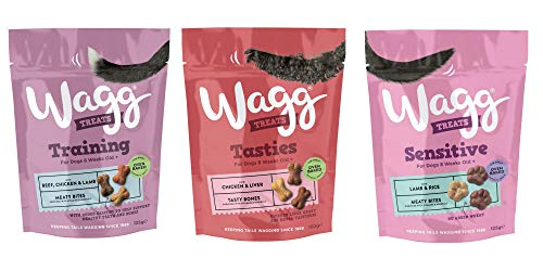 Wagg Dog Treats Bundle 3 Varieties - Training with Beef Chicken & Lamb,...