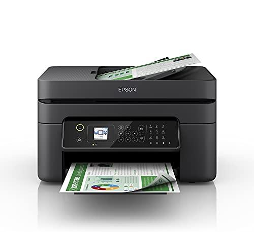 Epson Workforce WF-2840DWF | Impresora WiFi A4 Multifunción con Impresión a Doble Cara (Dúplex), Pantalla LCD y Alimentador de Documentos (ADF) | 3en1: Impresión, Copiadora, Escáner | Mobile Printing