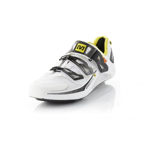 Zapatillas para bicicleta de carretera Mavic Huez amarillo para 2015, color blanco, talla 42