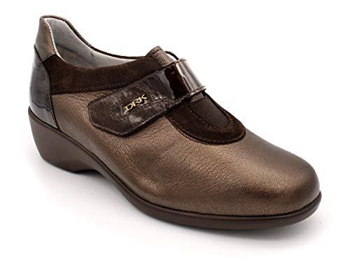 Zapato Velcro para Plantillas DRUCKER M-25608 Marrón 38 EU