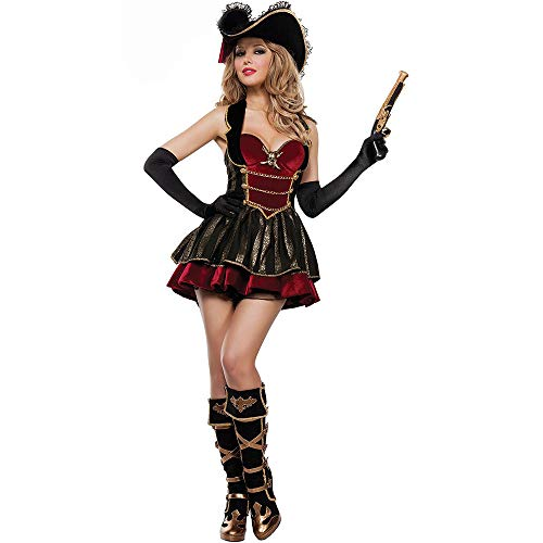 Halloween vrouwelijke piraat dragen volwassen cosplay open rug piraat rok kleding role-playing pak Fancy partij jurk