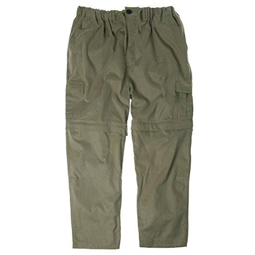 Abraxas Übergrößen Zipp-Off Cargo-Hose mit Gummibund Khaki, XL Größe:6XL