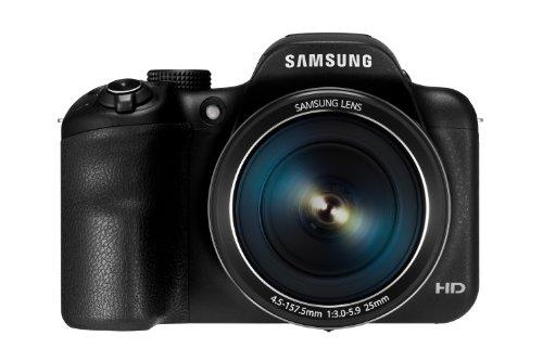 Samsung WB1100F Digitalkamera (16 Megapixel, 35-fach opt. Zoom, 7,6 cm (3 Zoll) Display) schwarz