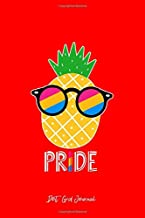 Dot Grid Journal: Pineapple Pan Pansexual Pride Flag LGBTQ Cool LGBT Ally Gift - Red Dotted Bullet Notebook - Diary, Planner, Gratitude, Writing, Goal, Log Journal - 6x9 120 pages