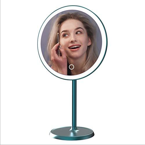 ZANZAN Par de sujetalibros Espejo de Maquillaje magnético Inteligente de Alta definición portátil con Espejo de Maquillaje con luz, Lente de magnificación 10x, para Viajar sujetalibros Baratos