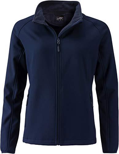 James & Nicholson Damen Ladies' Promo Softshell Jacket Jacke, Blau (Navy/Navy), 38 (Herstellergröße: L)