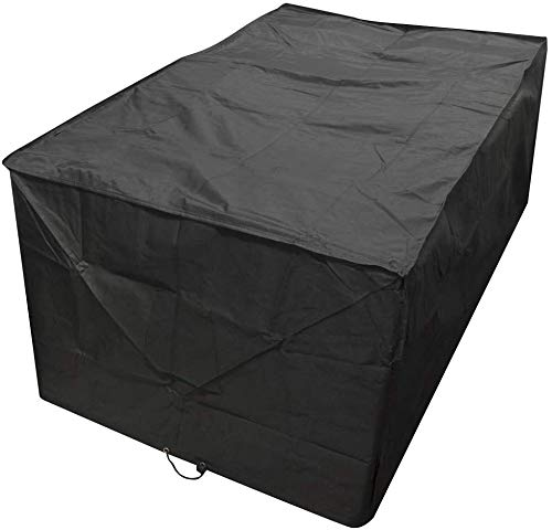 Garden Cover 210D PVC Patio Cover, Outdoor Sectional Furniture Cover, Table and Chair Seat Lounge Porch Sofa Covers Waterproof Dust Proof Protective for Garden Loveseat