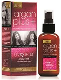 Argan Plus + Hydrating Hair Repair Unique 10, Sun Protection for Hair, leave in Conditioner, Heat protection Spray, Hair D...