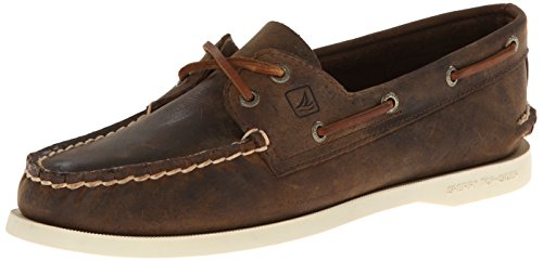 Sperry Top-Sider Women's Authentic Original Boat Shoe, Brown Distressed, 9.5 M US