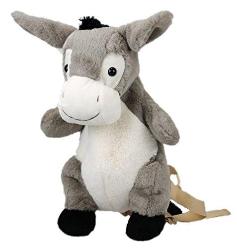 Inware 7148 - Kinder Rucksack Esel, grau/weiß
