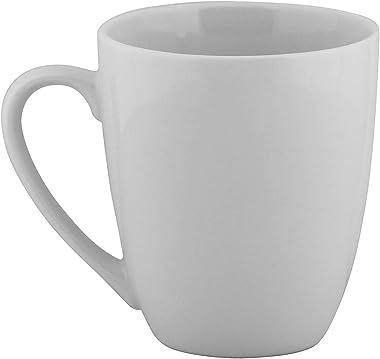 SATYAM KRAFT Ceramic Mug for Coffee and Tea - 1 Piece, White Cup, 280 ml
