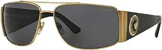 Versace VE2163 Rectangle Sunglasses For Men For Women+FREE Complimentary Eyewear Care Kit
