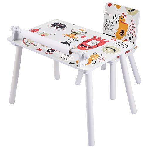 papasbox Mesas y sillas para niños, Mesas de Dibujo para niños, Mesas de Juegos para niños, con Redes de Almacenamiento, con tableros de construcción, Muy adecuadas para niños