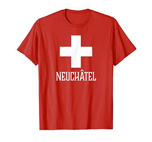Neuchatel, Schweiz–Swiss, Suisse Kreuz T-Shirt