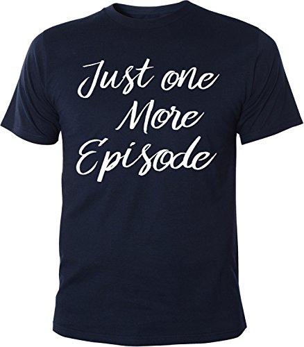 Mister Merchandise Herren Men T-Shirt Just one More Episode Movies Film Kino Serien serienmarathon Junkie Tee Shirt Bedruckt Navy, XL