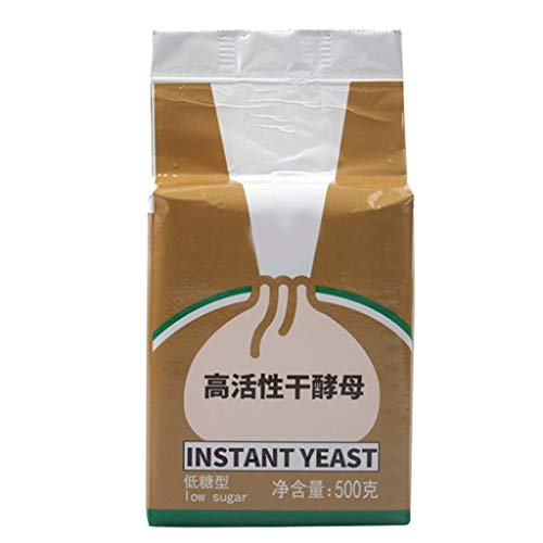 Healthy Food,500g Low Glucose Tolerance Instant Dry Yeast Highly Active Powder for Making Baozi Mantou Steamed Buns Bread Kitchen Cooking Baking Material