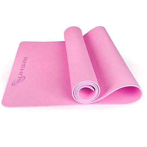SUHSAI Antideslizante Esterilla Yoga, Tpe Antideslizante Esterilla Deporte, Plegable Esterilla Deporte Gruesa Ideal Para Fitness, Pilates, Gimnasia, Gimnasio, Ejercicios & Entrenamiento