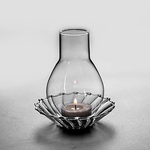 WYMGFD Candelabros de cristal candelabro lámpara de aceite boda fiesta cumpleaños decoración del hogar