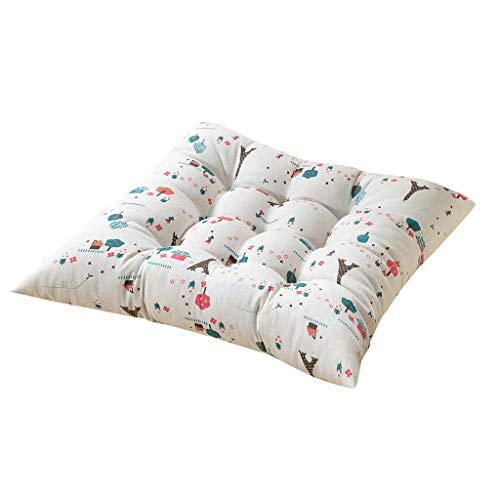 jieGorge New Printing Plain Seat Pad Dining Room Garden Kitchen Chair Cushions Tie On, Pillow Case, for Christmas Day (C)