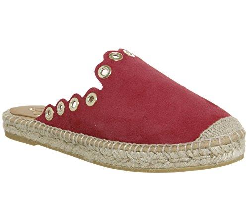 Kanna Schuhe Dora Sandalen Espadrilles Aus Wildleder Rot Damen Red 37