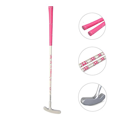 Acstar Two Way Junior Golf Putter Kids Putter Both Left and Right Handed Easily Use 3 Sizes for Ages 3-5 6-8 9-12(Silver Head+Pink Grip,25 inch,Age 3-5)