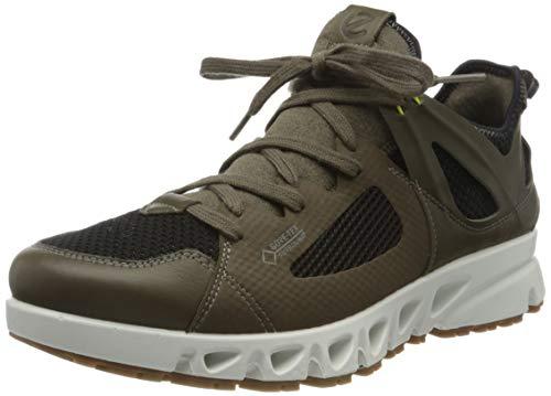 ECCO - Men's Multi-Vent Air Gore-TEX Surround Athletic Sneaker, Tarmac/Black/Sulphur, 5-5.5 Medium US