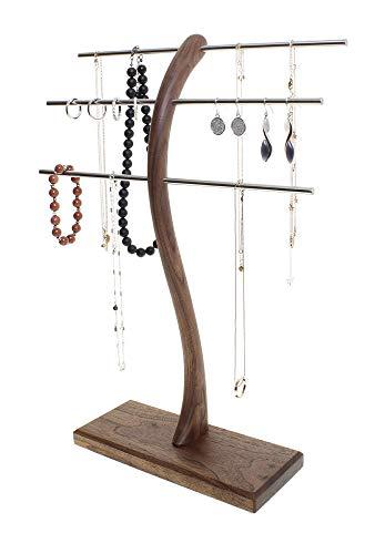 Schmuckständer Schmuckhalter Schmuckbaum Schmuckbäumchen zur Aufbewahrung von Ketten-Ringen-Armbänder - handgefertigter Schmuck-Organizer - Handmade in Germany