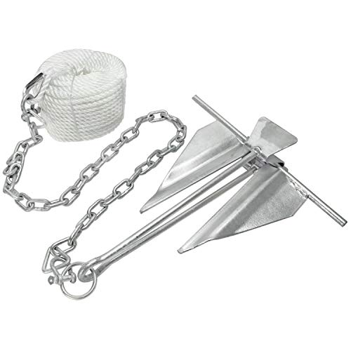 Extreme Max 3006.6719 Complete Slip Ring Anchor Kit with Rope/Anchor Chain/Shackle - #10/5 lbs.